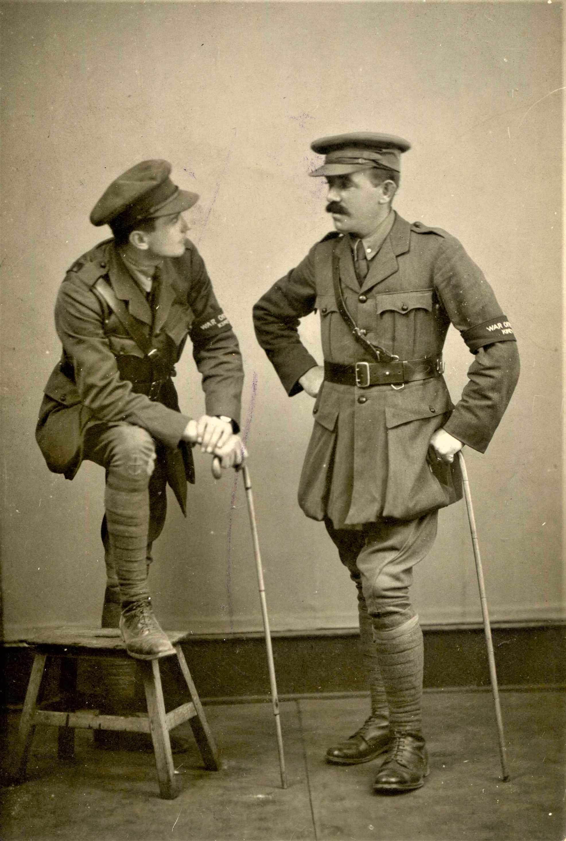 J B McDowell as War Correspondent with another, circus act